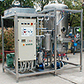 Systems based on vacuum evaporation, for the treatment and separation of solid substances containing wastewater.